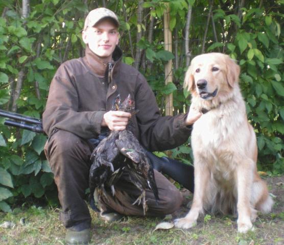 Suuret metsästäjät: Janne & Ofelia (14 kk) ja ensimmäinen metsälintusaalis